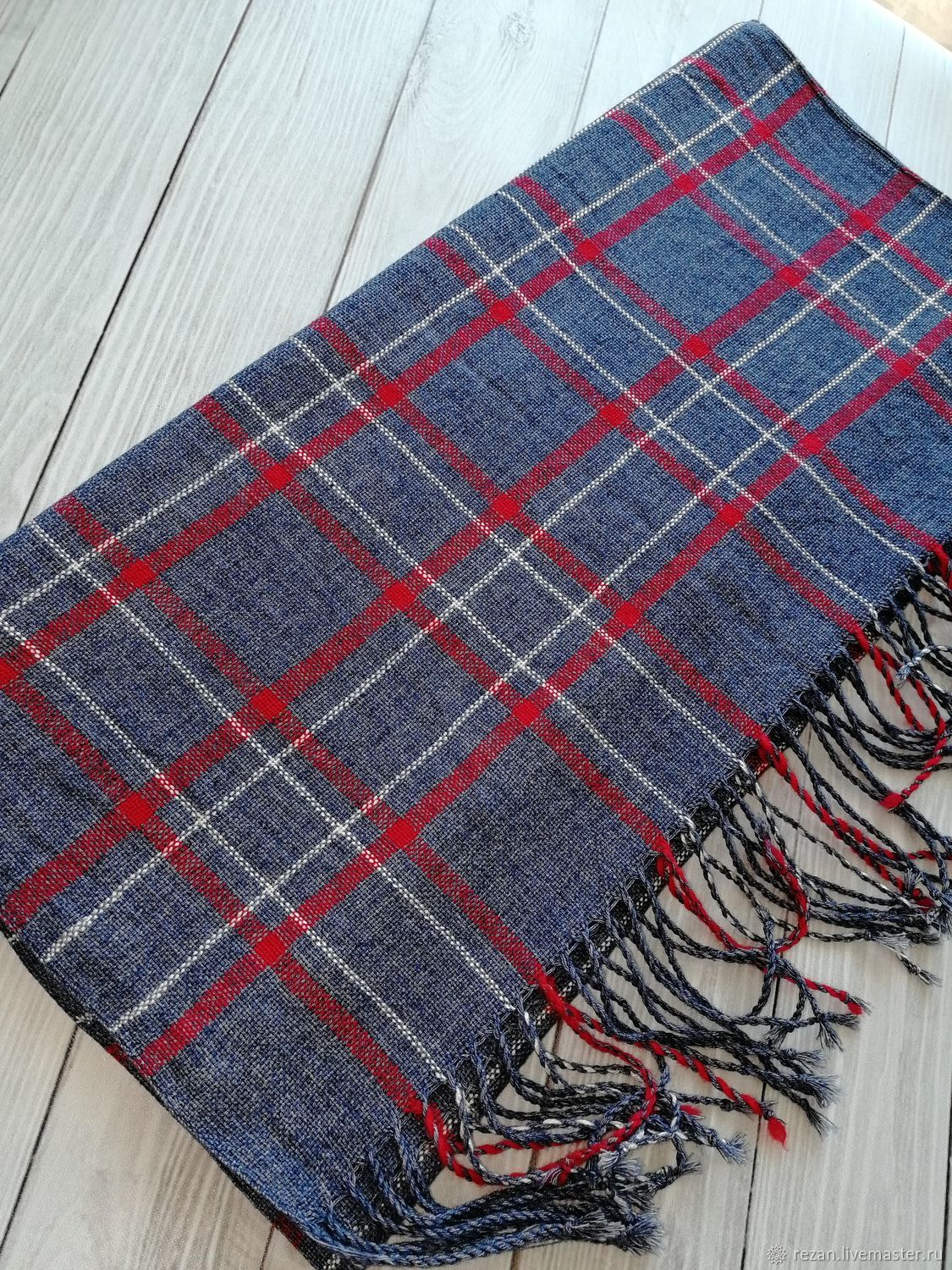 Handmade woven scarf cotton, Scarves, Rubtsovsk,  Фото №1