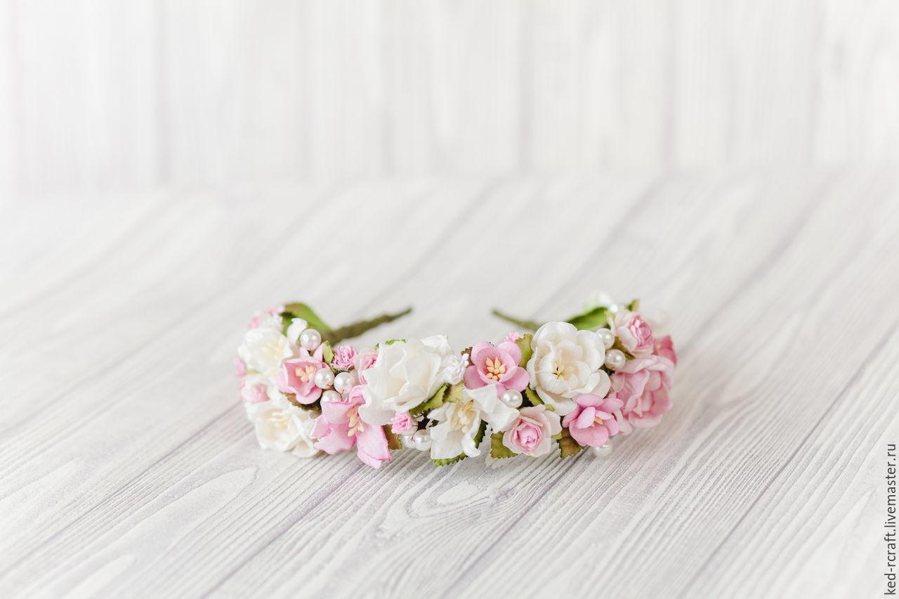 Pink Flower Headpiece Flower Crown Wedding Pink Hawaiian Flower