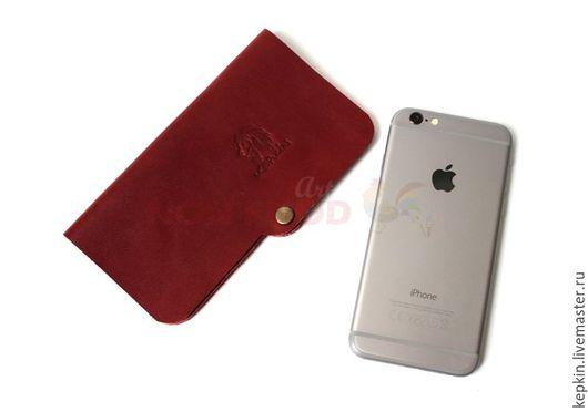 Для телефонов ручной работы. Ярмарка Мастеров - ручная работа. Купить Чехол для iPhone 6, iPhone 7 кожаный. Handmade.