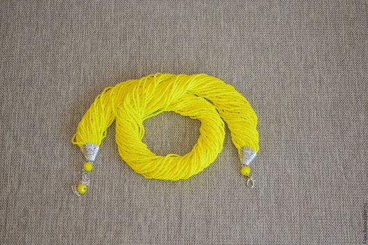 """Колье, бусы ручной работы. Ярмарка Мастеров - ручная работа. Купить Колье  """"Сочный лимон"""". Handmade. Желтый, бисерные нити"""