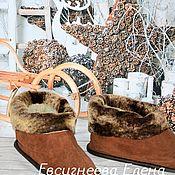 Ugg boots handmade. Livemaster - original item Ugg boots: Chuni made of natural sheepskin. Handmade.