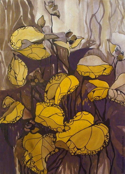 Картина. Растения в коричневом\r\nработа Ольги Петровской-Петовраджи