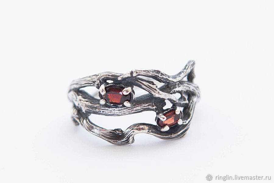 Ring of twigs with two stones, Rings, Moscow,  Фото №1