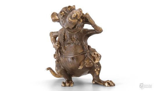 Статуэтки ручной работы. Ярмарка Мастеров - ручная работа. Купить Крыса (в/к). Handmade. Восточный календарь, статуэтки, скульптура из бронзы