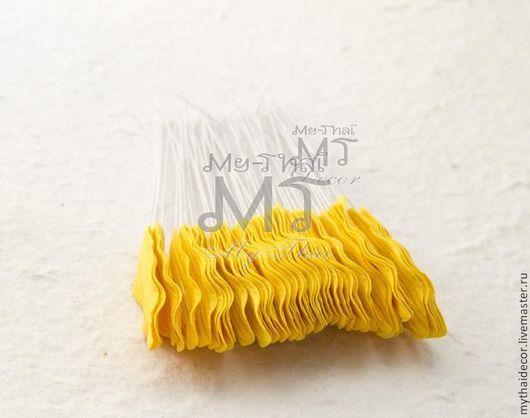 Лепестки мелкие желтые волнистые My Thai Decor. Малберри флористика из Таиланда по выгодным ценам!