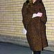 """Верхняя одежда ручной работы. Заказать Пальто кокон """"В стиле Бохо"""". Лана КМЕКИЧ de Marlen (lanakmekich). Ярмарка Мастеров."""