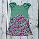 Одежда для девочек, ручной работы. Ярмарка Мастеров - ручная работа. Купить Платье для девочки ретро розовое  хлопок. Handmade. для фотосессий