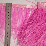 Материалы для творчества handmade. Livemaster - original item Copy of Trim of ostrich feathers 10-15 cm pink. Handmade.