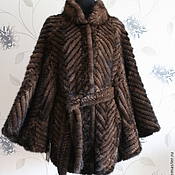 Outerwear Jackets handmade. Livemaster - original item Coat of knitted mink Bat new. Handmade.