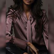 Блузки ручной работы. Ярмарка Мастеров - ручная работа Блузка ягодно-серого оттенка. Handmade.
