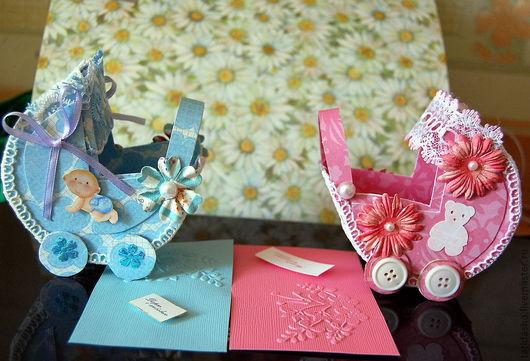 Подарки для новорожденных, ручной работы. Ярмарка Мастеров - ручная работа. Купить колясочки для денежного подарка. Handmade. Подарок новорожденному, полубусины