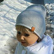 Работы для детей, ручной работы. Ярмарка Мастеров - ручная работа Жемчужно-серая шапочка. Handmade.
