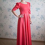 Одежда ручной работы. Ярмарка Мастеров - ручная работа платье в пол с кружевной вставкой. Handmade.