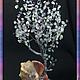 """Деревья ручной работы. Заказать ,,Средь вод хрустальных"""". ''Дриада'', деревья (бисер и камни). Ярмарка Мастеров. Фиолетовый цвет"""