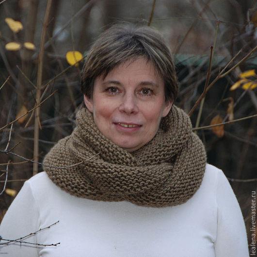 """Шали, палантины ручной работы. Ярмарка Мастеров - ручная работа. Купить Снуд-шарф меланжевый """"Верблюжка"""" (полушерсть). Handmade."""