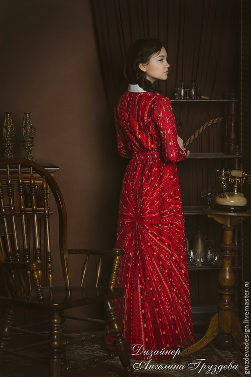 Dress shirt- MAXI. Coco Chanel Style, Dresses, Moscow,  Фото №1