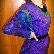 Одежда ручной работы. Ярмарка Мастеров - ручная работа Джемпер валяный, фиолетовый Асаи.. Handmade.