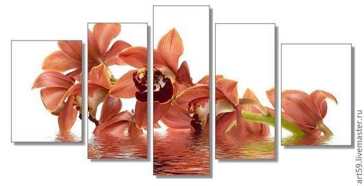 """Картины цветов ручной работы. Ярмарка Мастеров - ручная работа. Купить Полиптих """"Орхидеи"""". Handmade. Орхидеи, картины цветов"""