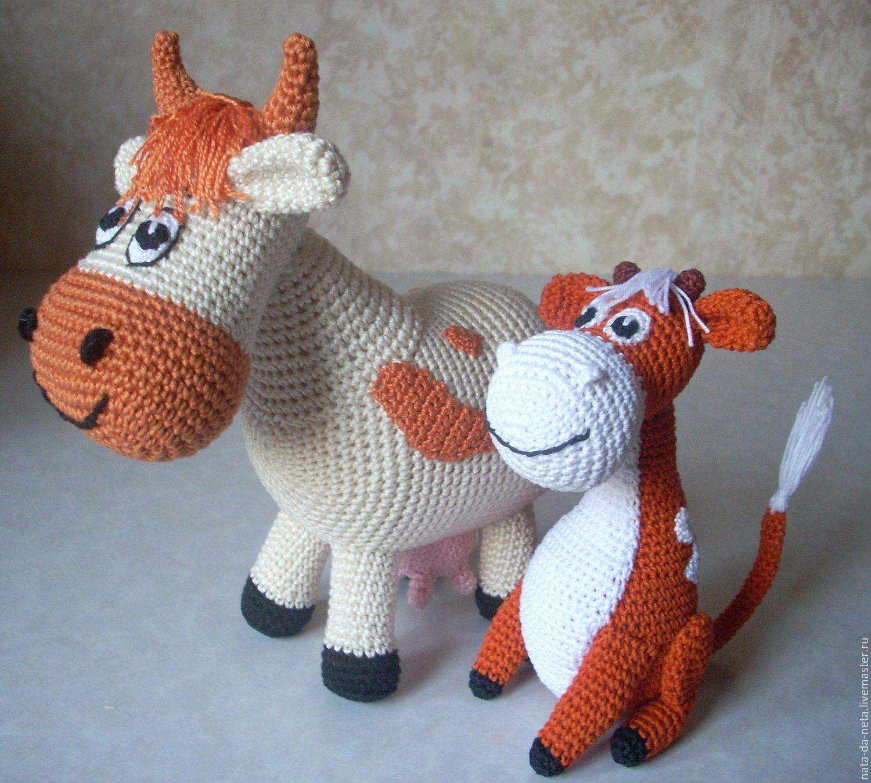 Схема вязания коровы