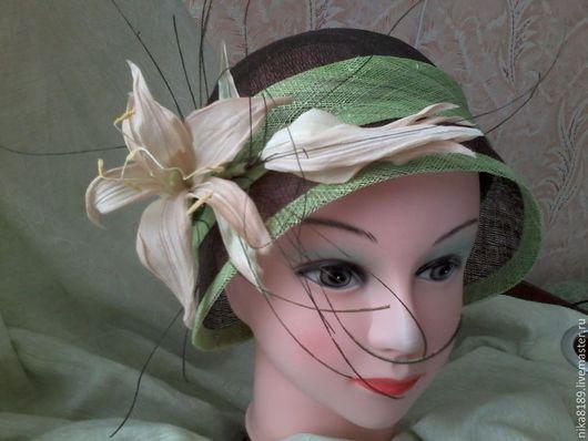 Шляпы ручной работы. Ярмарка Мастеров - ручная работа. Купить летняя шляпка клош. Handmade. Коричневый, Синамей, натуральный шёлк