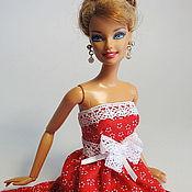 Куклы и игрушки ручной работы. Ярмарка Мастеров - ручная работа Кукольное платье Красная Ромашка. Handmade.