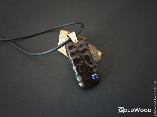 Компьютерные ручной работы. Ярмарка Мастеров - ручная работа. Купить Флешка из дерева Stone cо шпинелью. Handmade. Черный