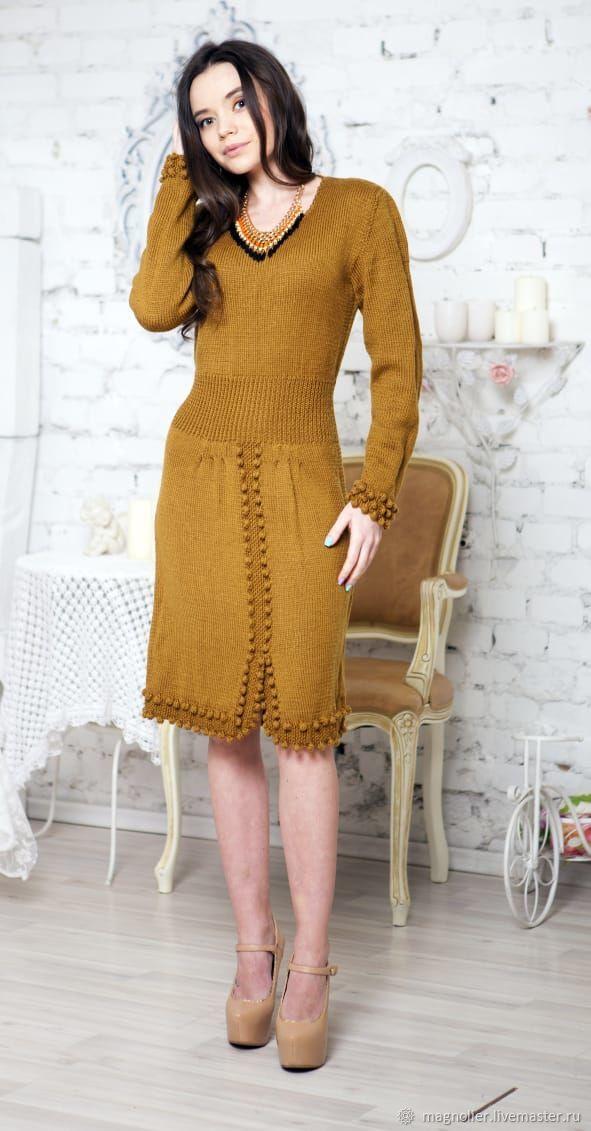 Платье горчичного цвета, Платья, Москва,  Фото №1