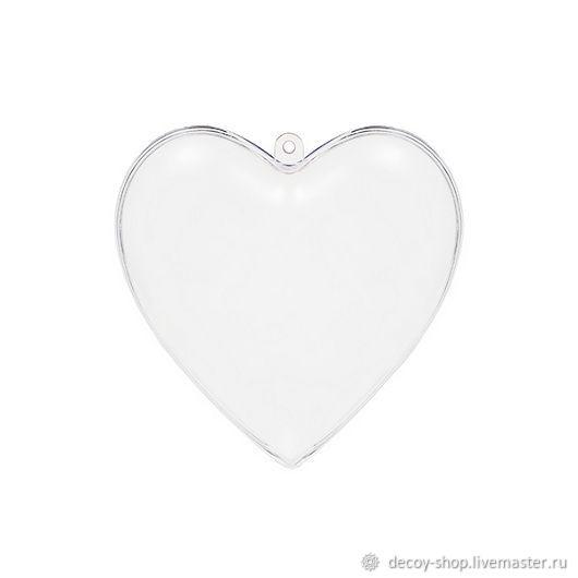 Blank 'Heart', split plastic (2 sizes), Blanks for decoupage and painting, Serpukhov,  Фото №1