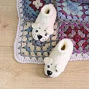 Работы для детей, ручной работы. Ярмарка Мастеров - ручная работа новые детские валяные тапочки собаки щенки. Handmade.