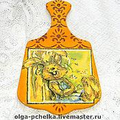 """Доски ручной работы. Ярмарка Мастеров - ручная работа Доска разделочная """"Веселый заяц"""". Handmade."""