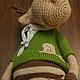 Мишки Тедди ручной работы. Лось Веня (27 см). Тиана Сищук - TeddyZveri. Ярмарка Мастеров. Вязаный лось