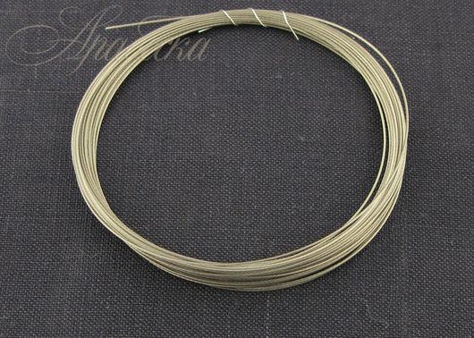 Тросик ювелирный серебряного цвета 0.4мм EFCO (Германия) 4м/упак