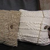 Для дома и интерьера ручной работы. Ярмарка Мастеров - ручная работа Комплект вязаных подушек. Ручное вязание на заказ.. Handmade.
