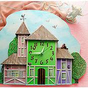 Для дома и интерьера ручной работы. Ярмарка Мастеров - ручная работа Часы детские настенные Улочки Оденсе. Handmade.