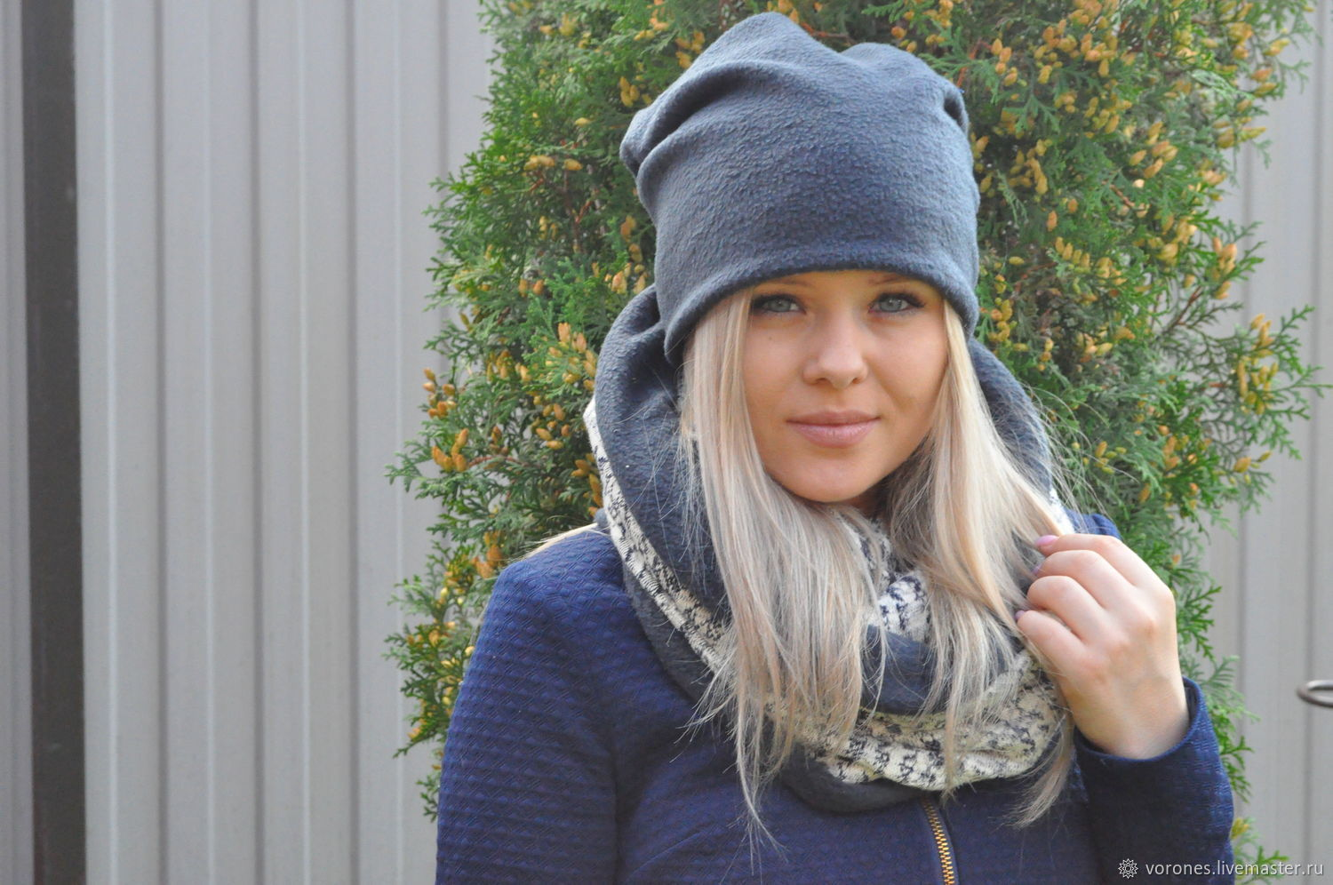 Set winter beanie hat and Snood ' Twilight', Headwear Sets, Moscow,  Фото №1