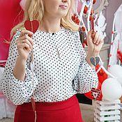 Одежда handmade. Livemaster - original item The blouse is of silk gauze Masha. Handmade.