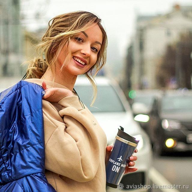 "Термокружка с принтом: ""Airplane mode on"", Кружки, Москва,  Фото №1"