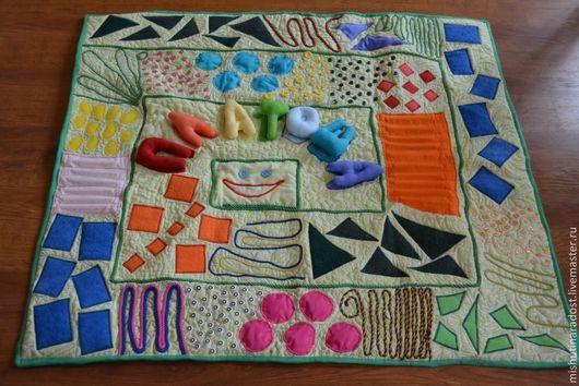 Развивающие игрушки ручной работы. Ярмарка Мастеров - ручная работа. Купить Массажный  развивающий коврик Геометрия. Handmade. Коврик для детской