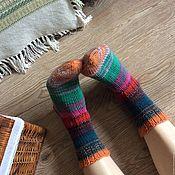 """Аксессуары ручной работы. Ярмарка Мастеров - ручная работа Вязаные носки """"Мои радужные дни"""". Handmade."""