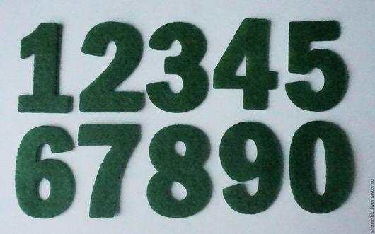 Валяние ручной работы. Ярмарка Мастеров - ручная работа. Купить Набор цифр для адвент-календаря. Handmade. Тёмно-зелёный