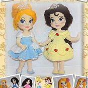 "Материалы для творчества handmade. Livemaster - original item Two master-class ""Cinderella and Belle with outfits"". Handmade."