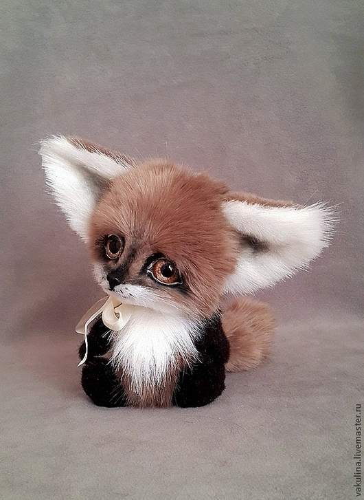 Мишки Тедди ручной работы. Ярмарка Мастеров - ручная работа. Купить лисенок Тилим. Handmade. Коричневый, лиса, большие глаза