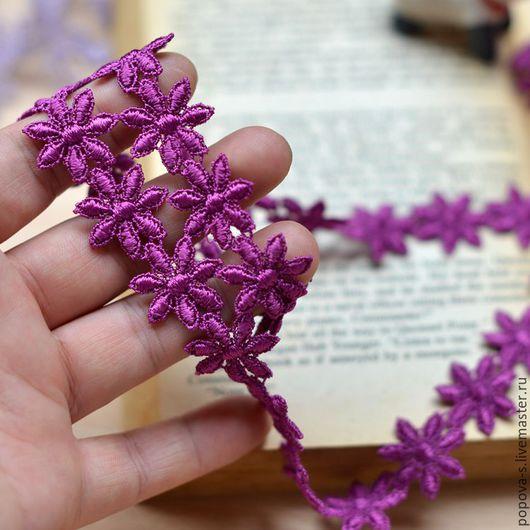 Шитье ручной работы. Ярмарка Мастеров - ручная работа. Купить Кружево цветочки (20 а). Handmade. Фиолетовый, кружево, цветочки