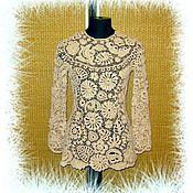 Одежда ручной работы. Ярмарка Мастеров - ручная работа Туника с рукавами. Ирландское кружево. Handmade.