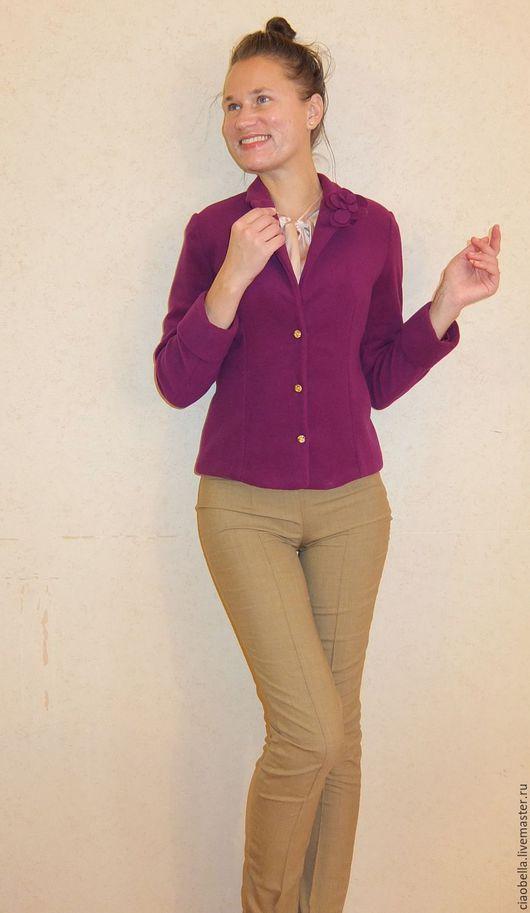 """Пиджаки, жакеты ручной работы. Ярмарка Мастеров - ручная работа. Купить Жакет из шерсти """"Valeri"""". Handmade. Фиолетовый, пиджак фиолетовый"""