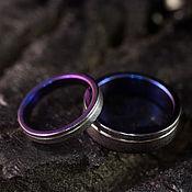 handmade. Livemaster - original item Black wedding rings. Two-tone paired rings. Handmade.