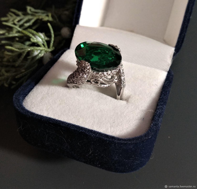 Ring: Ring with tsavorit and sapphires, Rings, Tel Aviv,  Фото №1