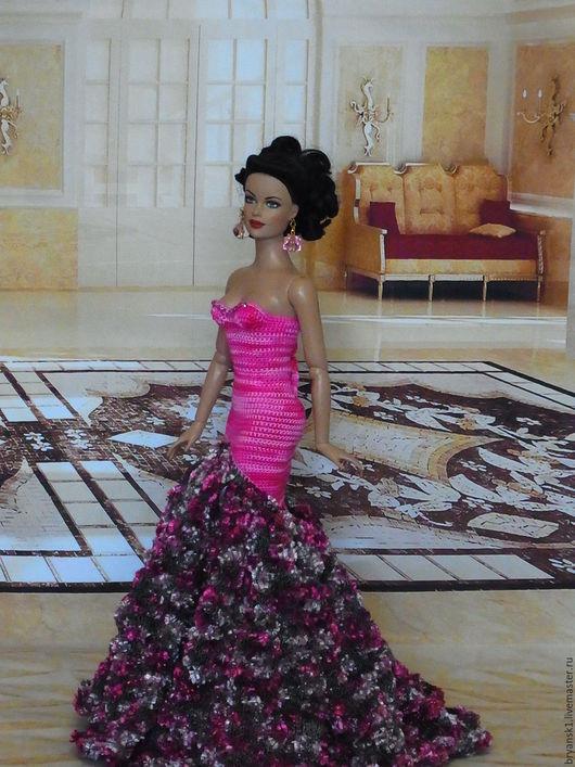 Одежда для кукол ручной работы. Ярмарка Мастеров - ручная работа. Купить Розовый наряд. Handmade. Розовый, стразы сваровски, хлопок