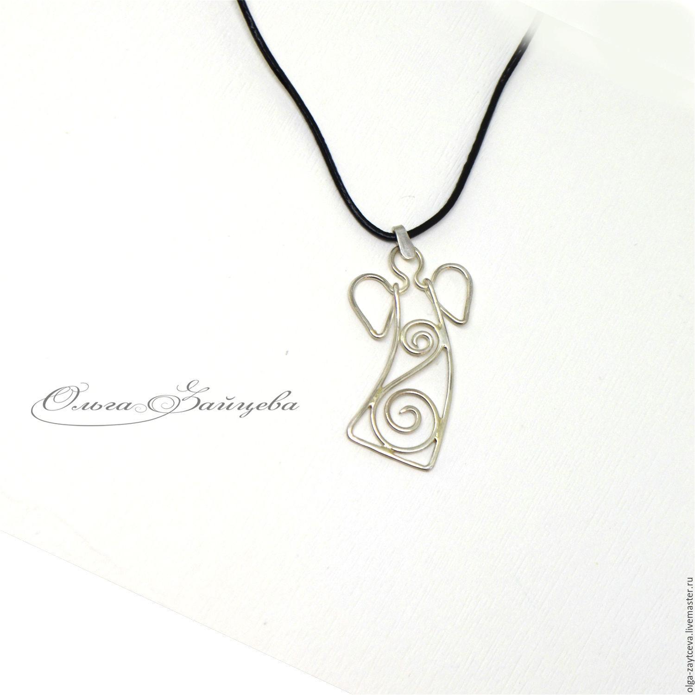 925 sterling silver angel pendant small silver pendant shop pendants handmade livemaster handmade buy 925 sterling silver angel pendant small silver aloadofball Gallery