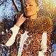 """Верхняя одежда ручной работы. Ярмарка Мастеров - ручная работа. Купить Куртка-эльбруска """"Журавушка"""". Handmade. Цветочный, куртка шерстяная"""
